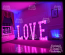 Giant LOVE LETTER Hire On Pink Colour
