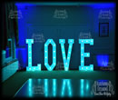 Giant LOVE LETTER Hire On Turquoise Colour