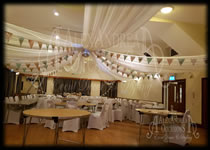 Ceiling Drape Hire Blackmore Village Hall Essex