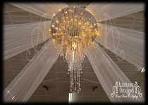 Ceiling Drape Centre - Large Two Tier Chandelier