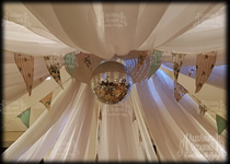 Ceiling Drape Centre - Large Disco Ball
