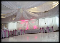 Ceiling Drape Hire Mill House Social Club Dagenham Essex