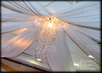 Ceiling Drape Centre - Small One Tier Chandelier