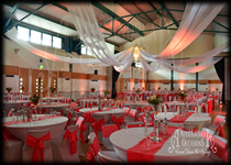 Ceiling Drapes Wedding Decor Alum Hall Hertfordshire