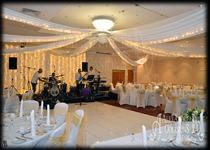 Wedding Ceiling Drapes Marriott Walham Abbey Essex