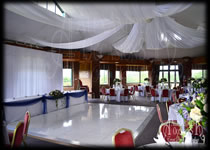 Ceiling Drape Wedding Decorarions Hire West essex Golf Club Essex