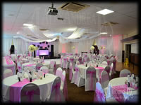Event Chair Cover Hire Pink Sash