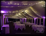 Hunton Park Ceiling Drapes & Fairylight Marquee