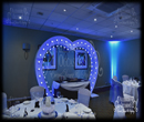 Chrsitening Heart Arch Over Cake Table