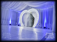 Illuminated Heart Arch Hire London Essex