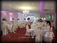 Illuminated Heart Arch Hire Hertfordshire