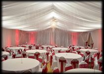 Marquee Style Drapes Full Room Drapery London Essex Hertfordshire